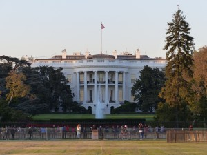 The Whitehouse (and people peering through the bars for photos!)