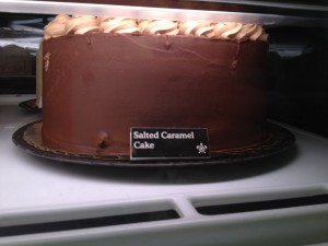 Salted Caramel Cake - for research purposes...