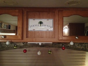 The trailer gets festive
