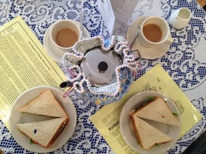 Tea and sarnies