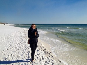 Chilly but beautiful (the beach that is!)