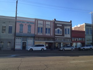 Downtown Jackson - all but one of these buildings were empty, the one being the card shop!