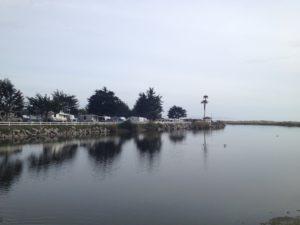 Our Pismo Beach campsite..and more Cali fog