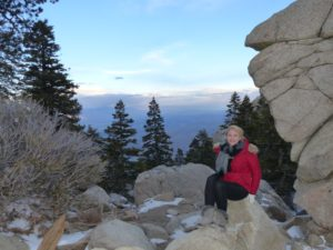 Wrapped up warm at Mount San Jacinto State Park