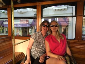 The Monterey tram with my girl