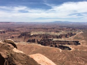Canyonlands (and the river far below)