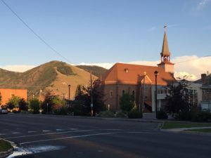 Downtown Missoula - we hiked to the big white M for sunset and met some great folks there too