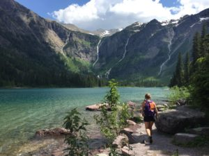 Hiking to Avalanche Lake with its 5 waterfalls
