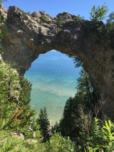 A natural arch on Mackinac Island